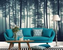 Beibehang 3d wallpaper living room bedroom mural fog forest TV background home decoration papel de parede