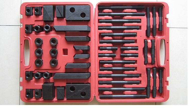 ФОТО good quality one set hardness Metex Milling Machine Clamping Set - M12 58pcs Mill Clamp Kit Vice