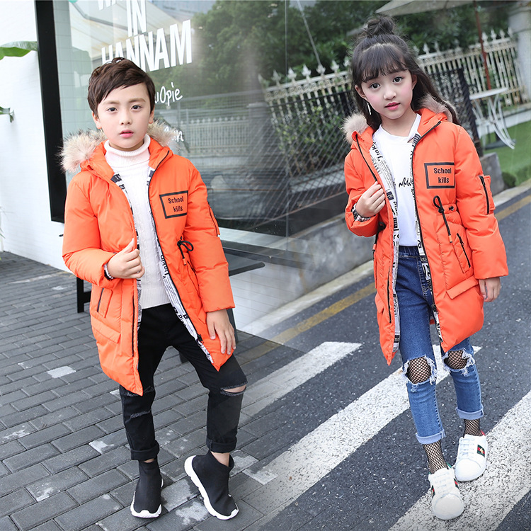Children Clothing 2017 Big Boys Warm Winter Coat Boys Down Jacket For Girl Jackets Duck Down Padded Thickening Outerwear 2017 winter down jackets for boys