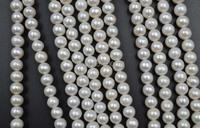 AA wholesale 8mm round freshwater pearl strands free shipping
