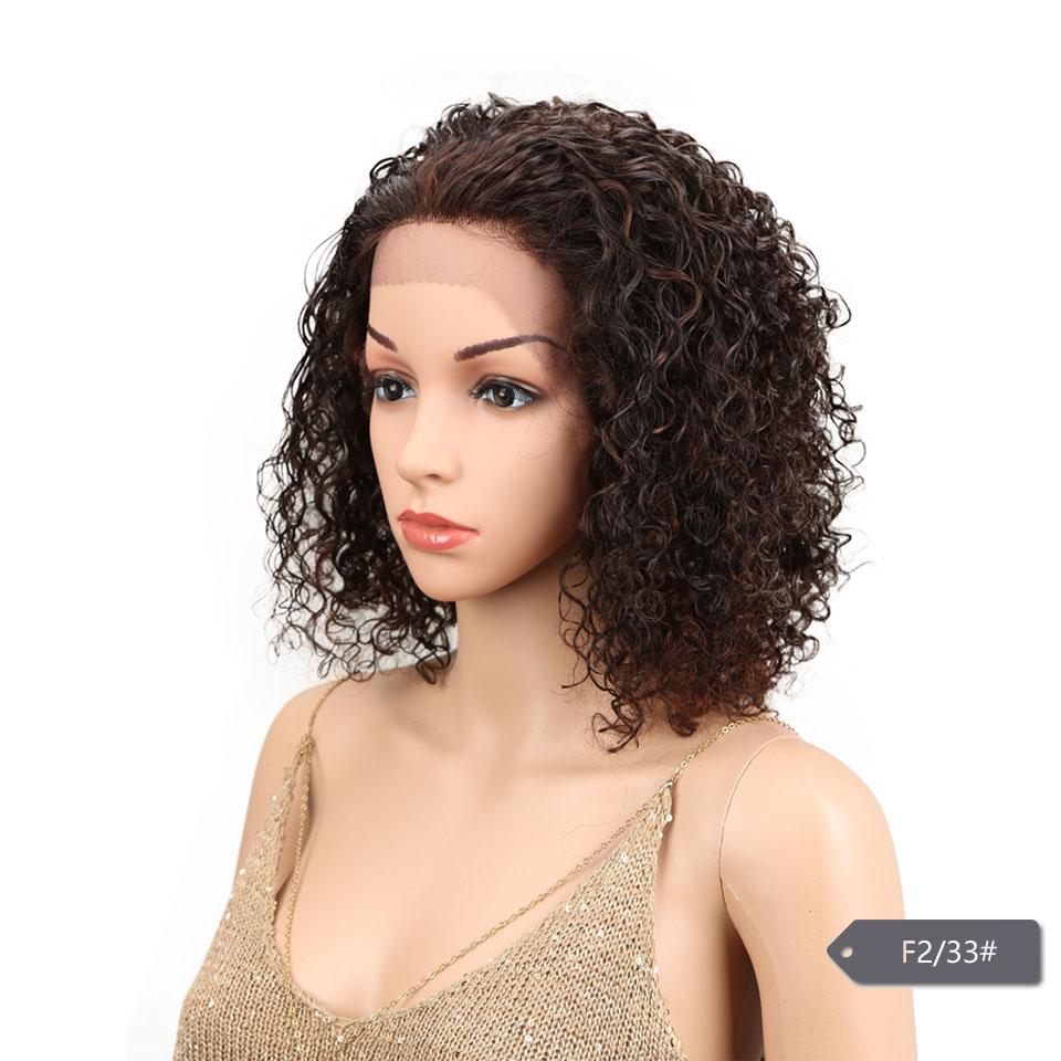 HTB1OTQdoH1YBuNjSszhq6AUsFXa6 Sleek Lace Front Human Hair Wigs For Black Women Brazilian Ombre Curly human hair Wig Wet and wavy Wig Curly Lace Front wig