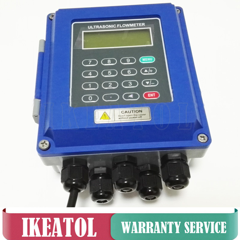 TUF-2000B Ultrasonic Liquid flow meter DN300mm-DN6000mm TL-1 Transducer wall mounted type