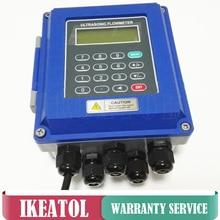 TUF-2000B Ultrasonic Liquid flow meter DN300mm-DN6000mm TL-1 Transducer wall mounted type