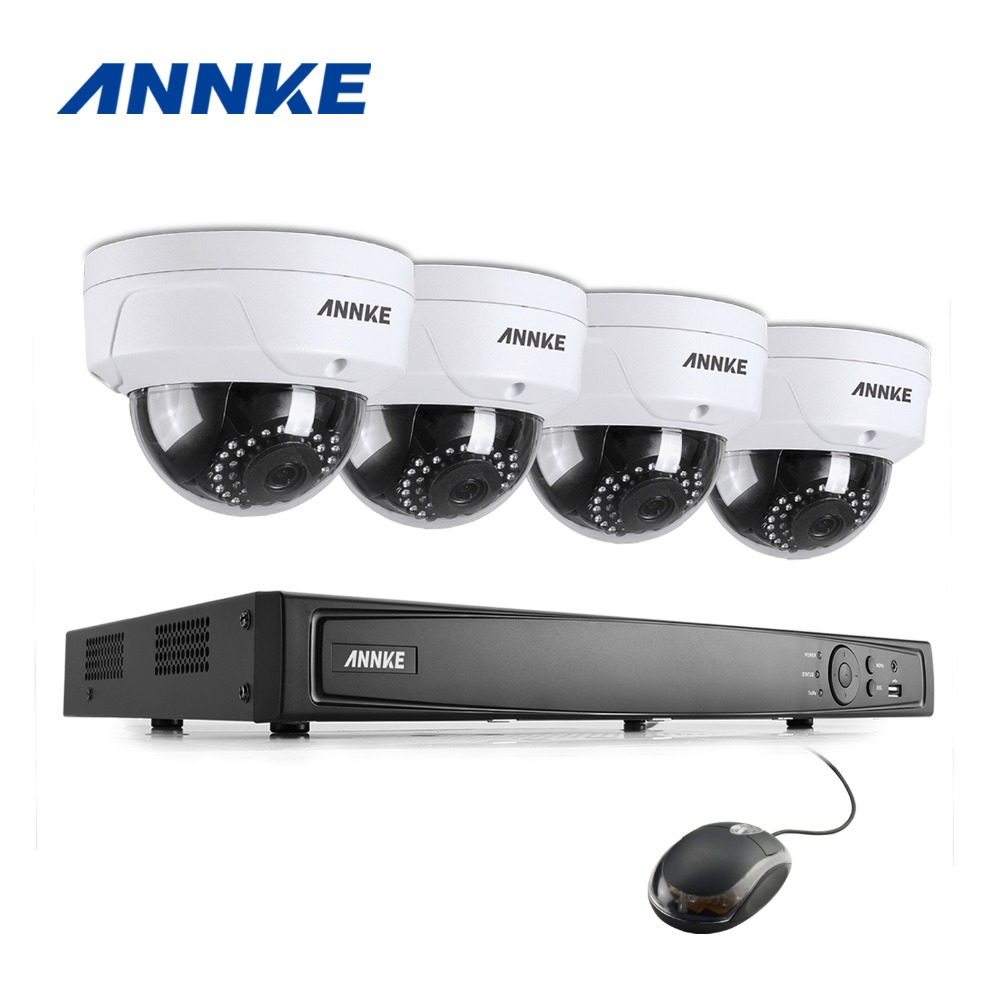 ANNKE 8CH 1080P HDMI PoE NVR 2.0MP IP Camera POE System P2P Cloud 1080P NVR KIT Surveill ...