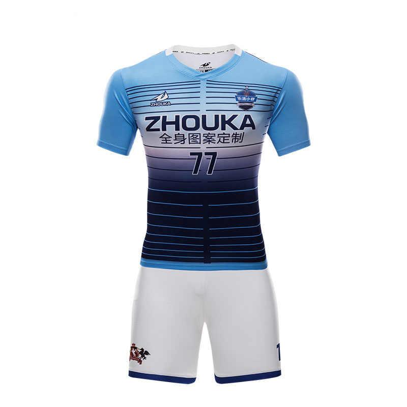 4d170a0f133e2 Custom best thai quality soccer jerseys polyester quick dry soccer uniforms  sets sublimation men thailand football