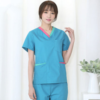 New Korean version of dental operating room hand washing length short sleeved women doctors brush hand suit surgical suit