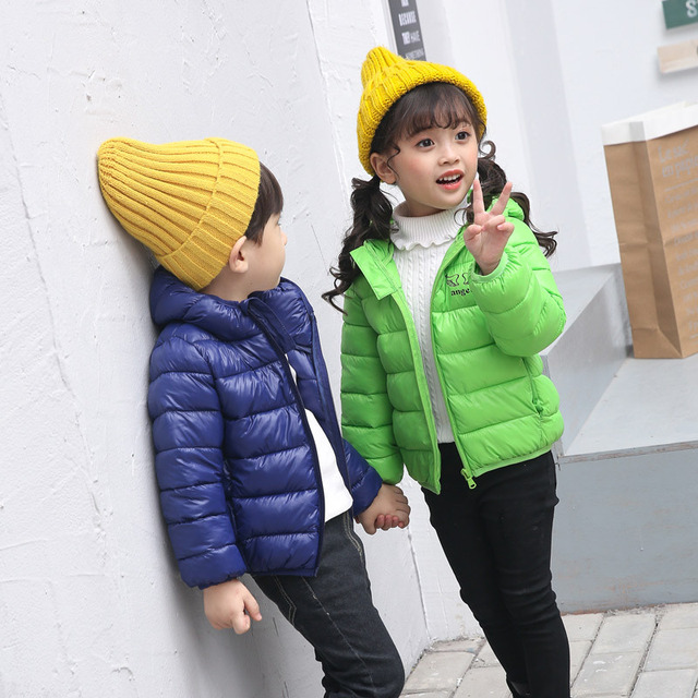 b73d70376574 2018 Fall Winter Little Boys   Girls Wings Wadded Coat Children s ...