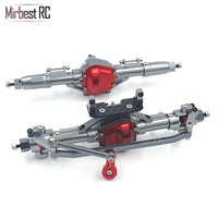 Rc Car Complete Alloy Front And Rear Axle With Arm CNC Machined For 1:10 Rc Crawler AXIAL SCX10 D90 RC 4WD