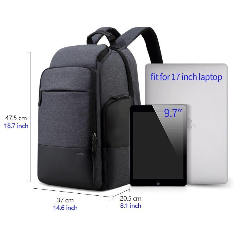 Bopai marca mochila de viagem dos homens alta capacidade multifuncional carregamento usb para 17 polegada portátil mochila anti roubo negócios - 6