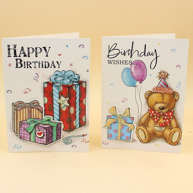 20 Pieces LotKorea Creative Birthday Greeting Card Upscale Folding Paper Gift Cake Cards With Envelope