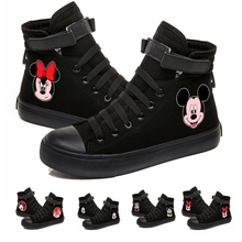 Women Girls Mickey Mous Sneakers Canvas Shoes For Teenagers