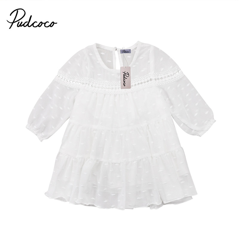 6M to 5T Cute Toddler Kid Baby Girls Dress New Style Princess Tutu Tulle Long Sleeve Dress Party Outfits