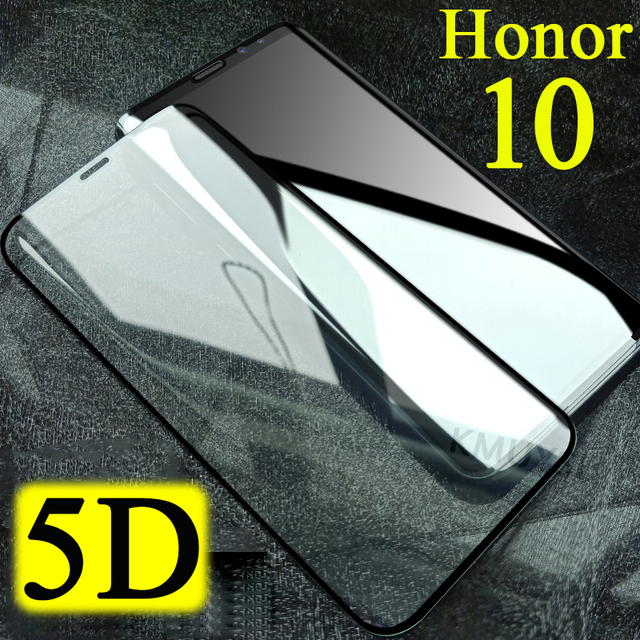 5D Protective glass on honor 10 for huawei honnor honor10 screen protector honer huawey tempered tremp sheet armor screensaver