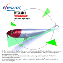 2019 EVERCATCH fishing lure red floating popper wobblers 105mm 14.5g/17g topwater for seabass pike model Q105 VMC Hook