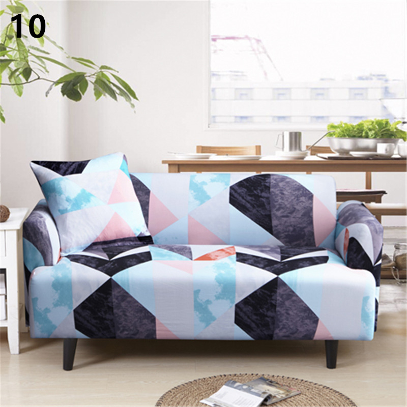 Polyester Elastic Stretch Plant Printing Sectional Sofa Cover Protective Slipcovers All-Inclusive Couch Case Cover Living Room