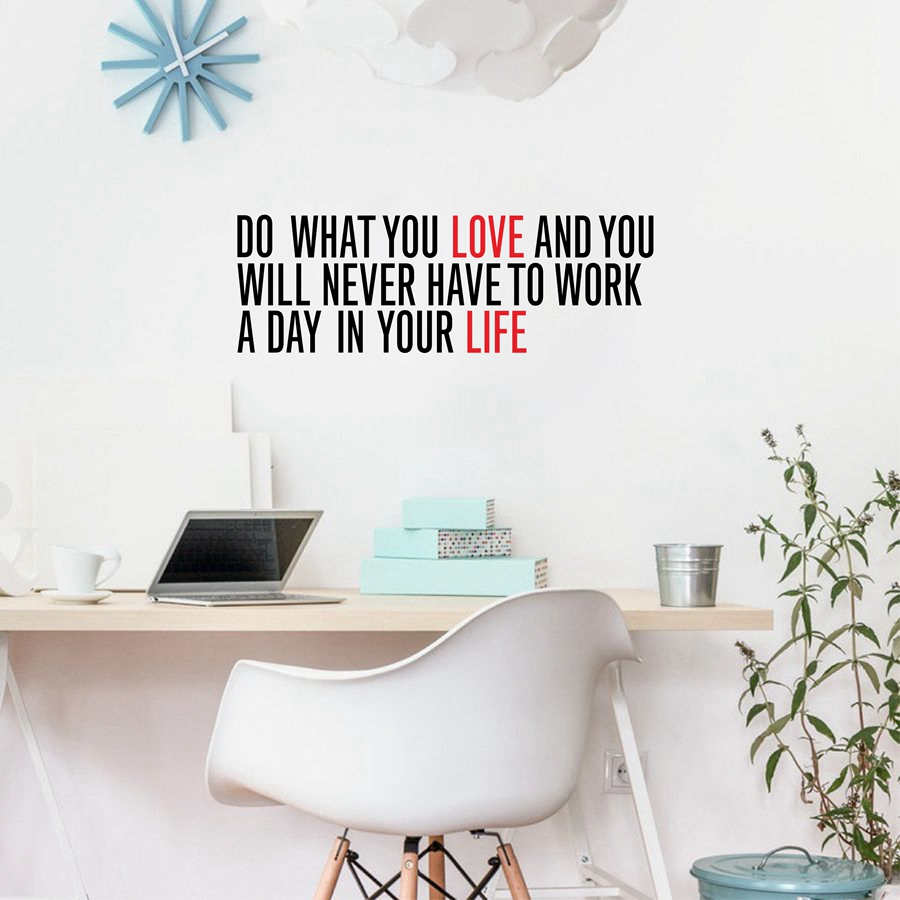 Motivational wall decor choice image home wall decoration ideas do what you love inspirational quotes vinyl wall sticker work inspirational quotes vinyl wall sticker work amipublicfo Image collections