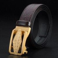 Ciartuar Leather Belt High Quality Genuine Leather Belt Designer Belt Waist Belt Metal Gold Belt Automatic Buckle Men Gift Belt