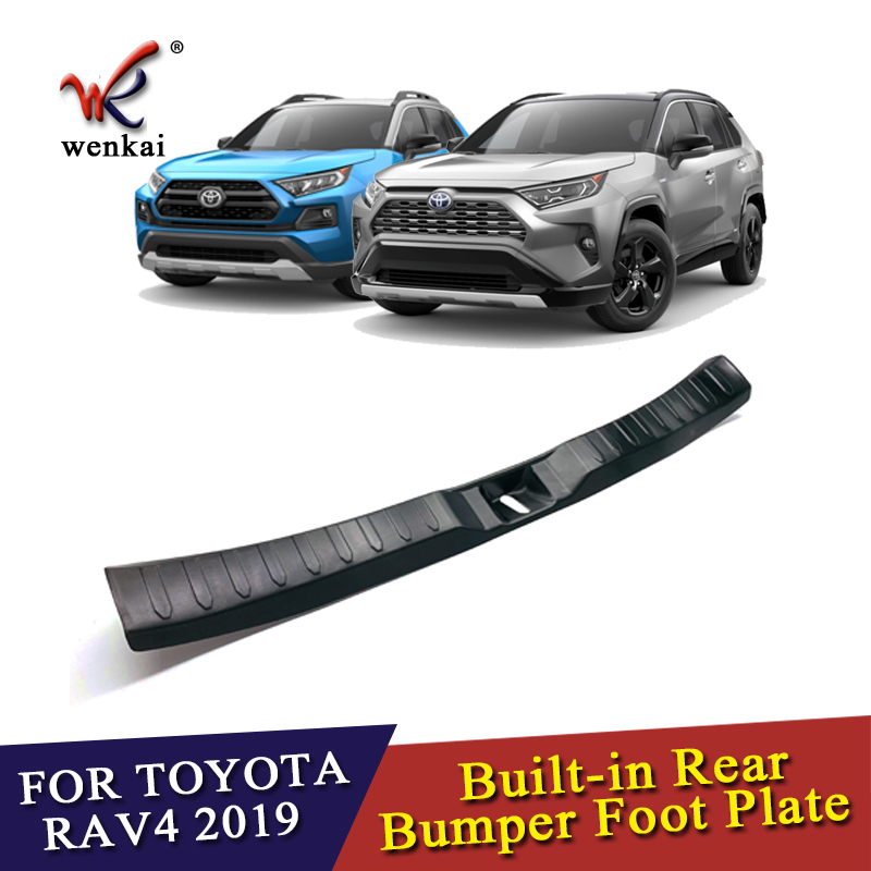 Car Accessories 304 Stainless Steel Built-in Inner Rear Bumper Foot Guard Sill Plate For Toyota RAV4 2019 2020