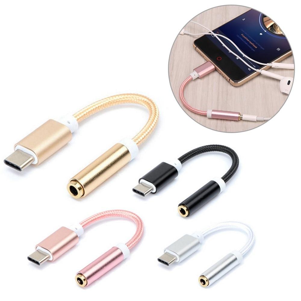 AUX Audio Cavo USB Type C-3.5 Auricolare Adattatore Type-C A 3.5mm Convertitore Della Cuffia Per For Xiaomi Note 6 Pro Honor 8x