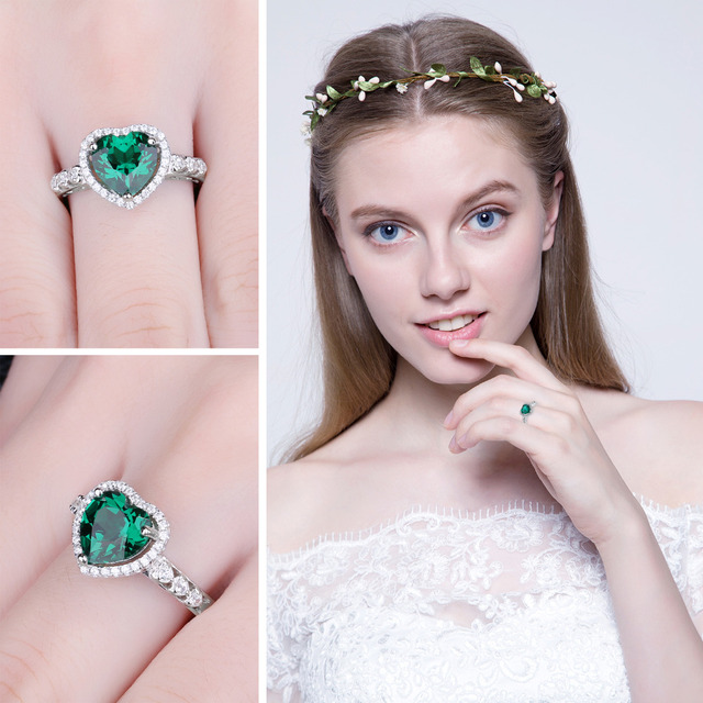Heart of Ocean Emerald Ring