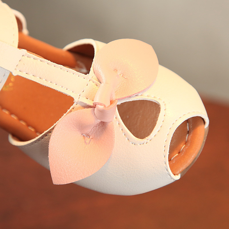 COMFY KIDS Summer toddler sandals flat with shoes Fashion children shoes girls princess cut-outs Kids sandals leather Shoes
