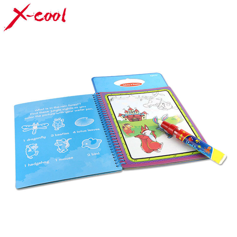 X-cool 1 Pcs Coloring Book with 1 Magic Pen for kids