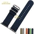 Нейлон браслет Смарт-ремешок для apple watch iwatch ремешок 38 мм 42 мм водонепроницаемый перлон наручные группа пояса бесплатный инструмент