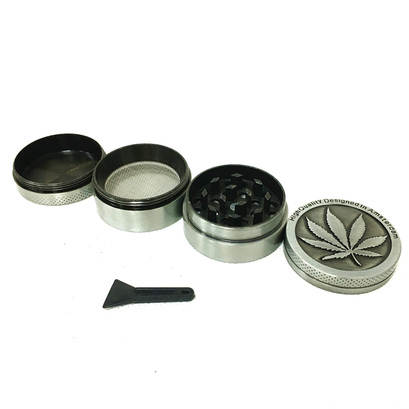 Drop Shipping Herb Grinder  40mm 50mm 4levels Zinc Alloy High Quality Tobacco Smoke Crusher