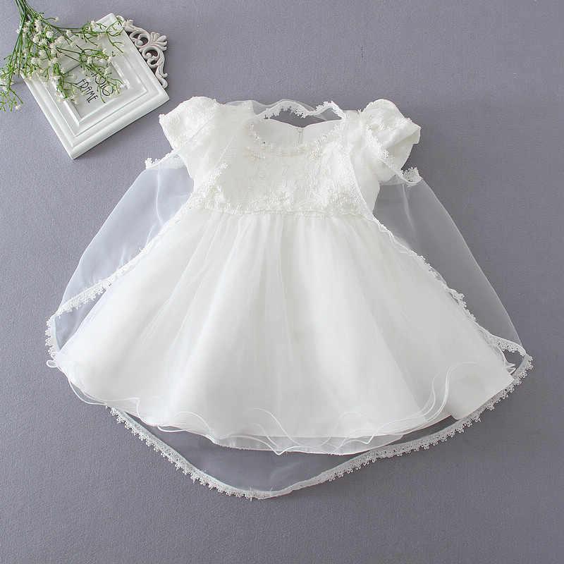 8e58889b6b64e 2019 One Set Of 3pcs 1 Year Old Baby Girl Baptism Dress Eleghant Princess  Wedding Vestidos 2019 Girl Baby Christening Gowns 4-26