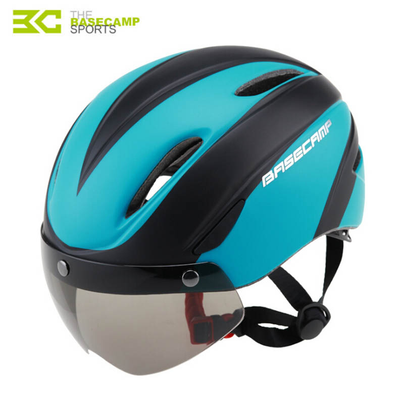 Basecamp Mountain Road Bike Helmet Lens With Goggles Comfortable Cycling Helmet Intergrally molded Bicycle Helmet With