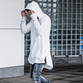 2016  Spring and Autumn Men's Long Sleeve Lovers Jacket Cotton Coat with A Hat Hoodie