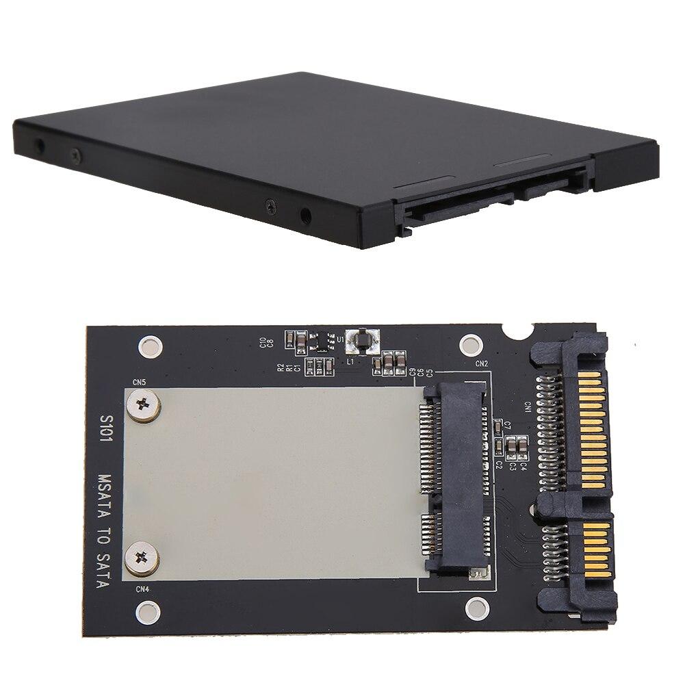 External MSATA SSD To 2.5 Inch SATA Convertor Adapter Enclosure Case For 128GB/256GB/512GB MSATA Moudule For Windows10/8/7