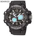 S choque hombres deportes relojes dual display analógico digital LED reloj Electrónico de cuarzo relojes 50 M impermeable BOAMIGO natación reloj