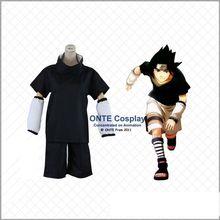 Naruto's Uchiha Sasuke cosplay costume set with weapons