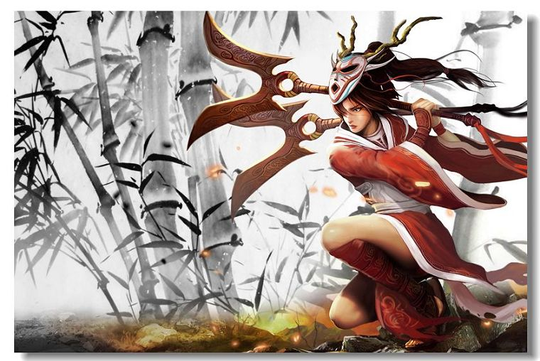 HOT High quality Art Silk Print League Of Legends LOL All Cast 13x20.24x36.32x48 Inch Game Poster