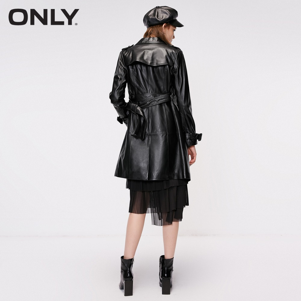 ONLY veste en cuir de mouton à taille boucle pour femme | 118310544 - 3