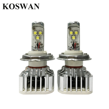 LED Headlight Bulb H4 – Hi/Lo H4 (9003) – Easy Installed, 30W 3600Lm 6000K White LED Head Lamp Bulb H4 – 1 Year Warranty