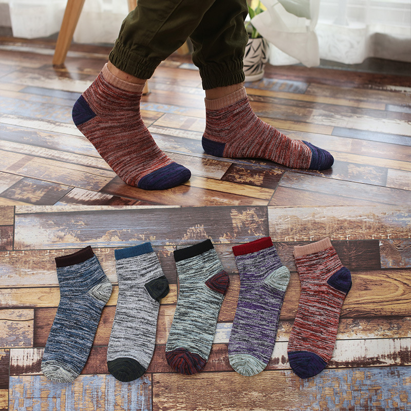 5Pairs=10Pieces/Lot Men's Crew Socks For Men Cotton Patchwork Ethnic Breathable Hombre Sock Business Male Socks Summer New Meias