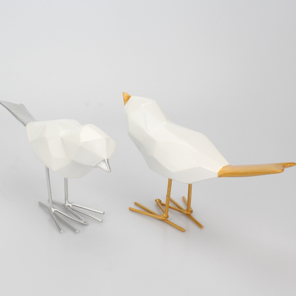 MRZOOT Modern Minimalist Origami Bird Resin Decoration Creative Living Room Garden Simulation Animal Crafts