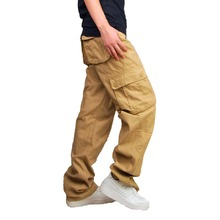 2019New Men Cargo Pants army green big pockets decoration mens Casual trousers easy wash male autumn pants military  jogger
