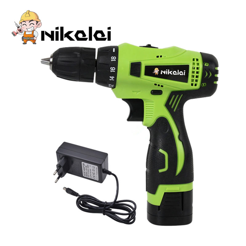 16 8V Electric Drill Double Speed Lithium battery Cordless Drill Household Multi function hand Electric Screwdriver