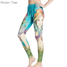 Mermaid Leggings For Women Sexy Skinny Printed Legging 2017 Summer Sporting Fitness Leggings Female Breathable Jeggings Tayt