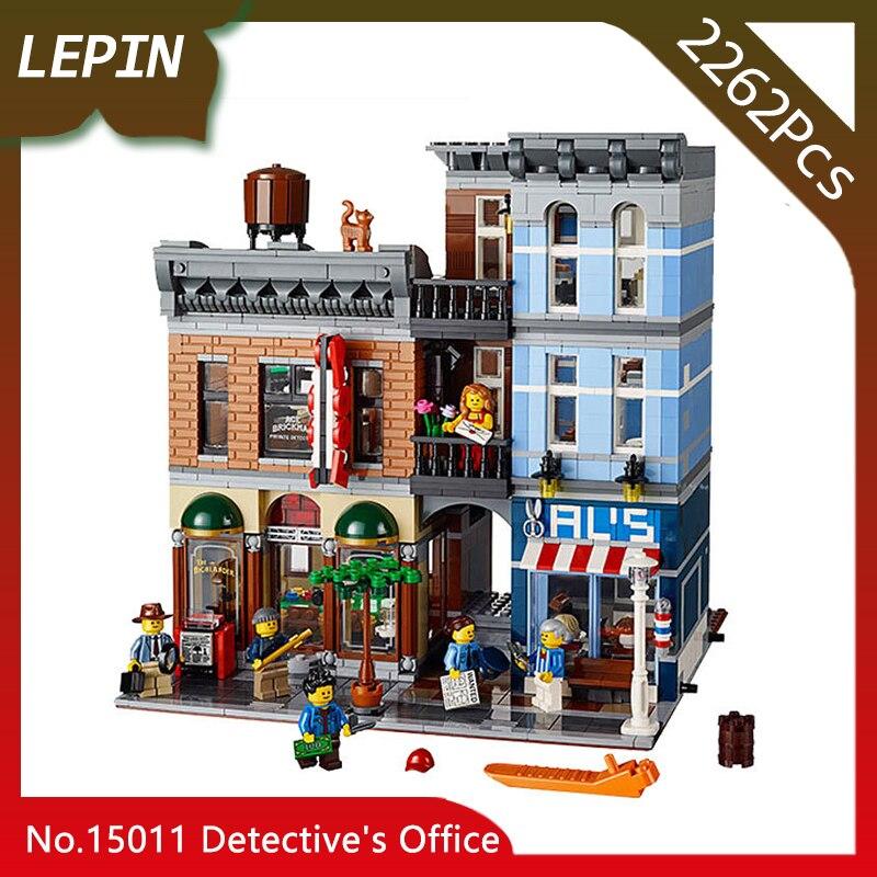 Lepin 15011 The Detective's Office Set Avengers Set Assemble Building Series 2262pcs Building Blocks Educational ChildrenToys 72pcs educational building blocks set