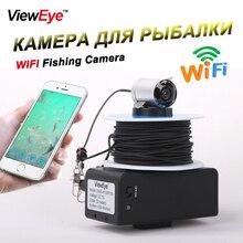 Wi-Fi подводный рыбацкий фотоаппарат, видео запись ночного видения, рыболокатор с 6 шт., инфракрасный светодиодный рыболокатор, 20 м кабель