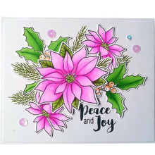 YaMinSanNiO 11*16cm 6Pcs New Clear Stamps Scrapbooking Flower Alphabet  Stamp Embossing Craft Silicone Transparent