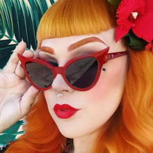 Sexy Fashion Cat Eye Sunglasses Women Brand Designer Sun Glasses For Ladies Vintage Oculos Cateye Colorful-Lens Female 2019 ybz fashion cat eye sunglasses women brand designer sun glasses for ladies vintage oculos cateye mirror lens female sty954