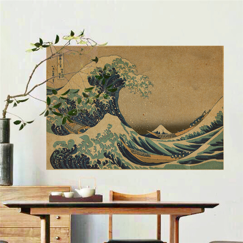 18 x 36 ArtWall Scott Campbells Wave and Wind Energy are More Fun Removable Wall Art Mural Set