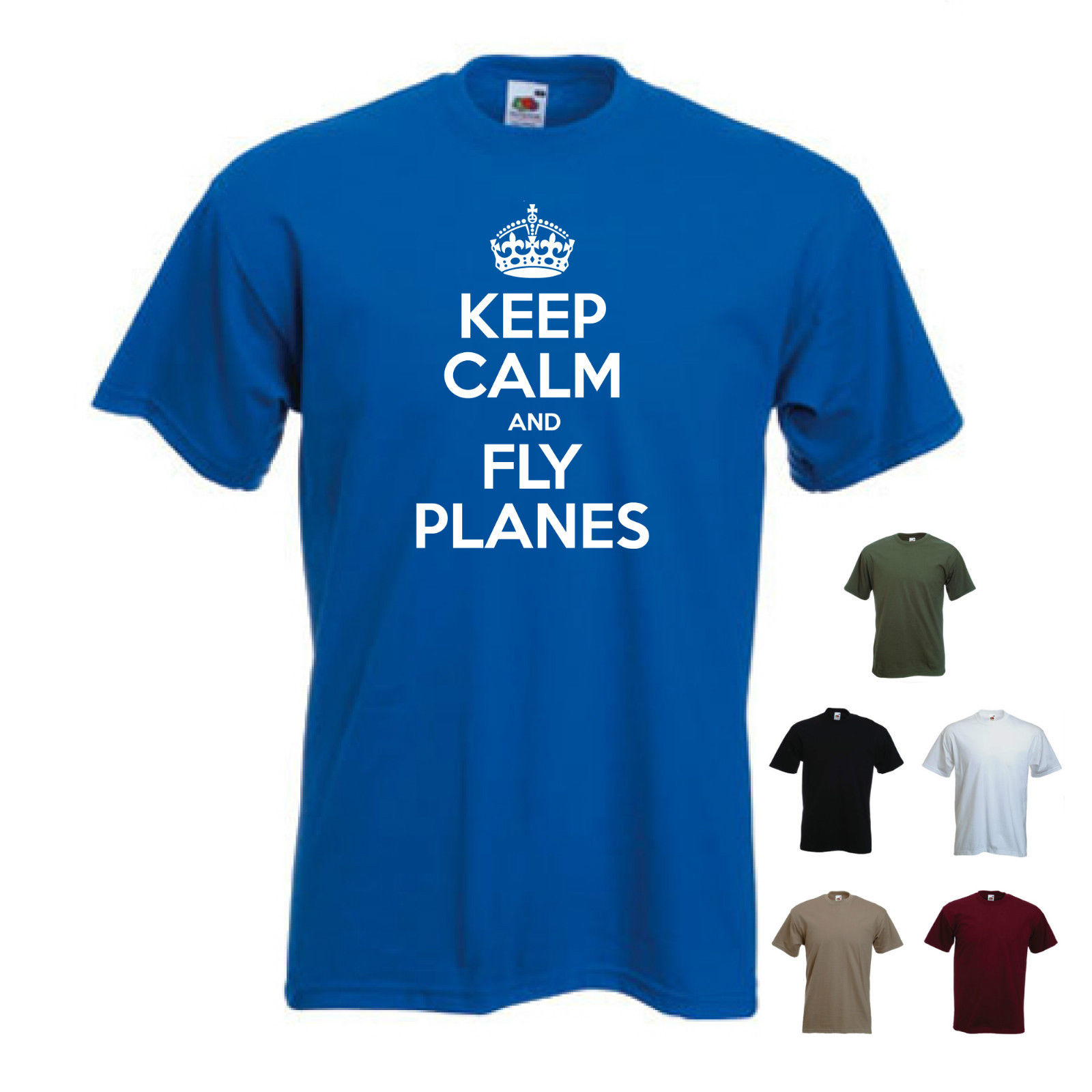 S-XXL /'Keep Calm and Fly Planes/'  Aeroplane Airplane Pilot T-shirt Tee Gift