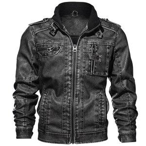 Image 1 - Повседневные мужские Куртки из искусственной кожи, спортивные куртки для мотоциклов 6XL 7XL