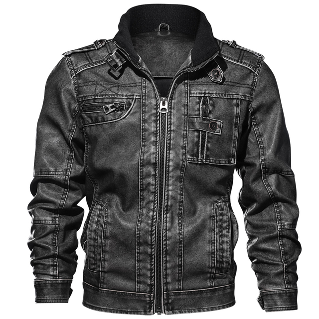 Повседневные мужские Куртки из искусственной кожи, спортивные куртки для мотоциклов 6XL 7XL